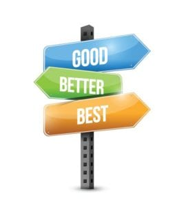 good better best commercial roofing coating