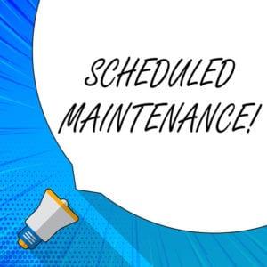 Scheduled flat roof maintenance repair