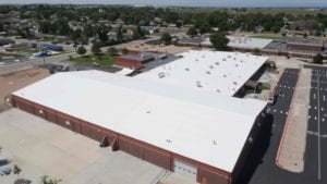 Fluid-applied commercial flat roof