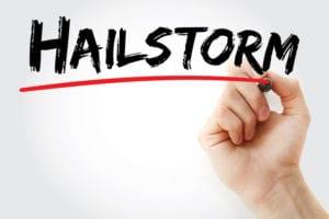 Hailstorm damage commercial roofer roofing assessment